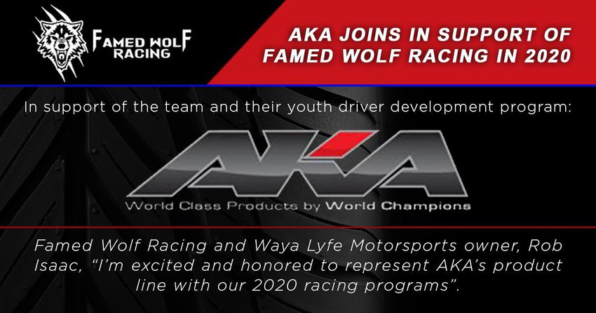Main Photo: Famed Wolf Now AKA Racing Sponsored