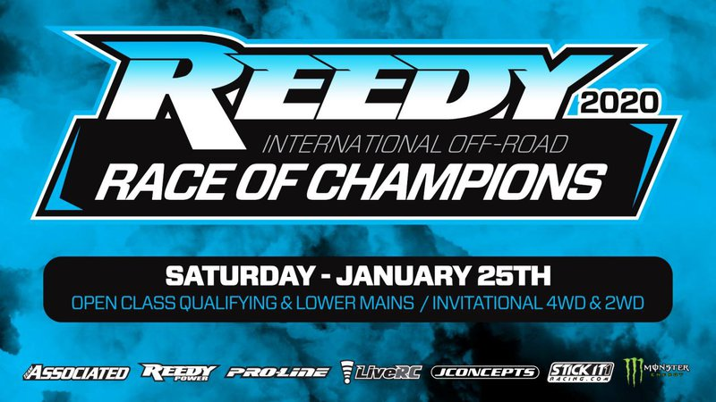 Main Photo: 2020 Reedy Race of Champions: Saturday Schedule