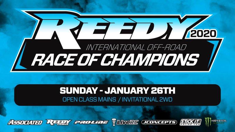 Main Photo: 2020 Reedy Race of Champions: Sunday Schedule