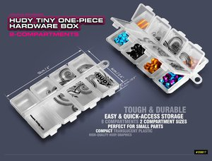 Gallery Photo: New Hudy Small 8 Compartment Hardware Box