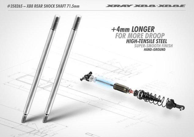 Main Photo: New Xray +4mm Rear Shock Shaft
