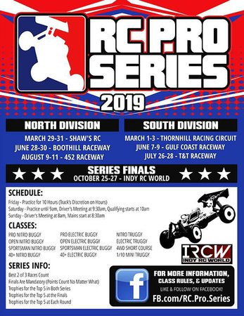 Main Photo: 2019 RC Pro North Round 3 Announcement