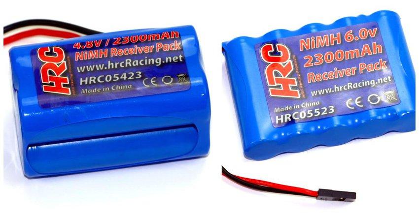 Main Photo: New HRC Racing 2300mAh NiMH receiver battery packs