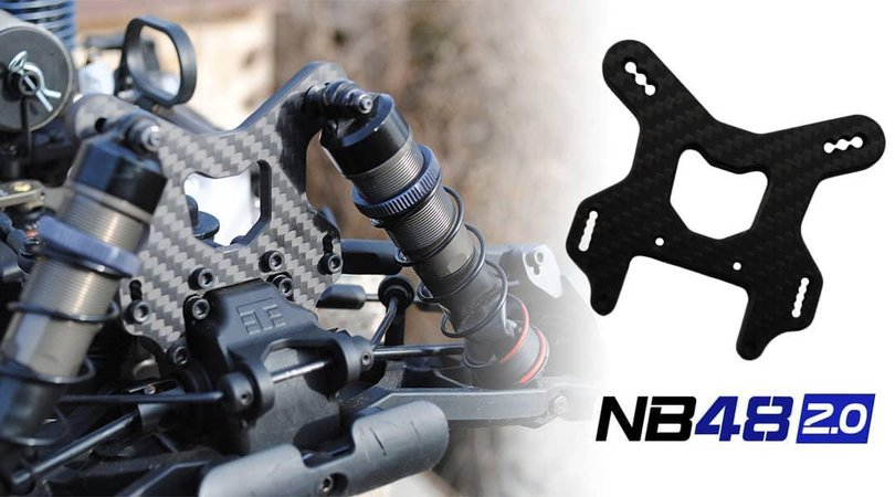 Main Photo: New Lit R/C Products Carbon Fiber NB48 2.0 Shock Towers