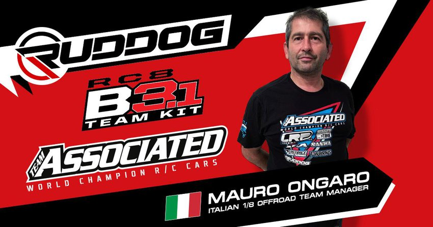 Main Photo: Mauro Ongaro Appointed Team Associated Italy Team Manager