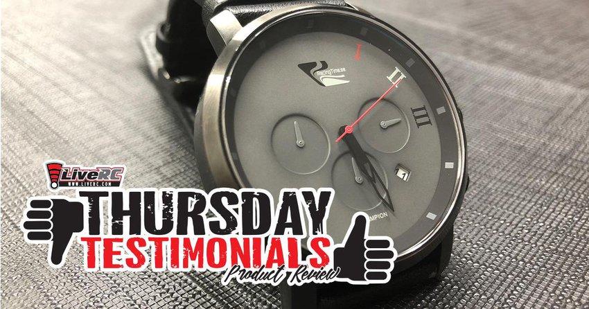 Main Photo: THURSDAY TESTIMONIALS: Racing Time Champion wrist watch