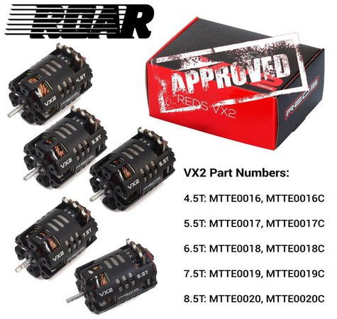 Main Photo: REDS Racing VX2 Modified Motors Receive ROAR Approval