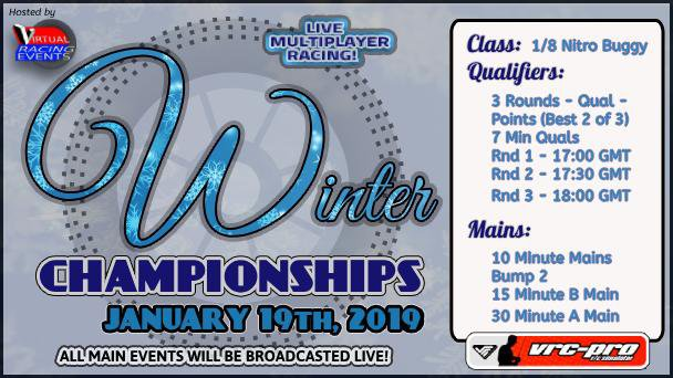 Main Photo: Virtual Racing Events announces 2019 VRC Pro Winter Champs with live multi-player