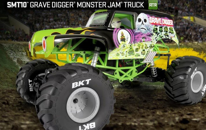 Liverc New Axial Racing Smt10 Grave Digger Rtr Straight Axle Monster Truck Video