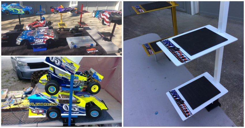 Main Photo: New Fifty1Fifty Racing Dual Car Pit Table Stands