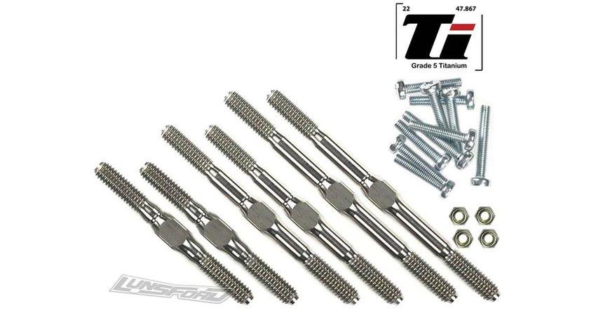 Main Photo: New Lunsford Racing 4mm Titanium turnbuckle kits for Traxxas