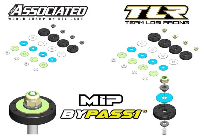Main Photo: New MIP Bypass1 TLR and Team Associated Pistons