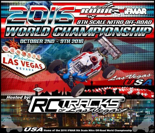 Main Photo: 2016 IFMAR Nitro Off-Road Worlds in Las Vegas scheduled for October 2-9
