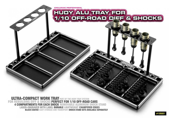 Main Photo: New Aluminum Hudy 1/10th Scale Work Tray