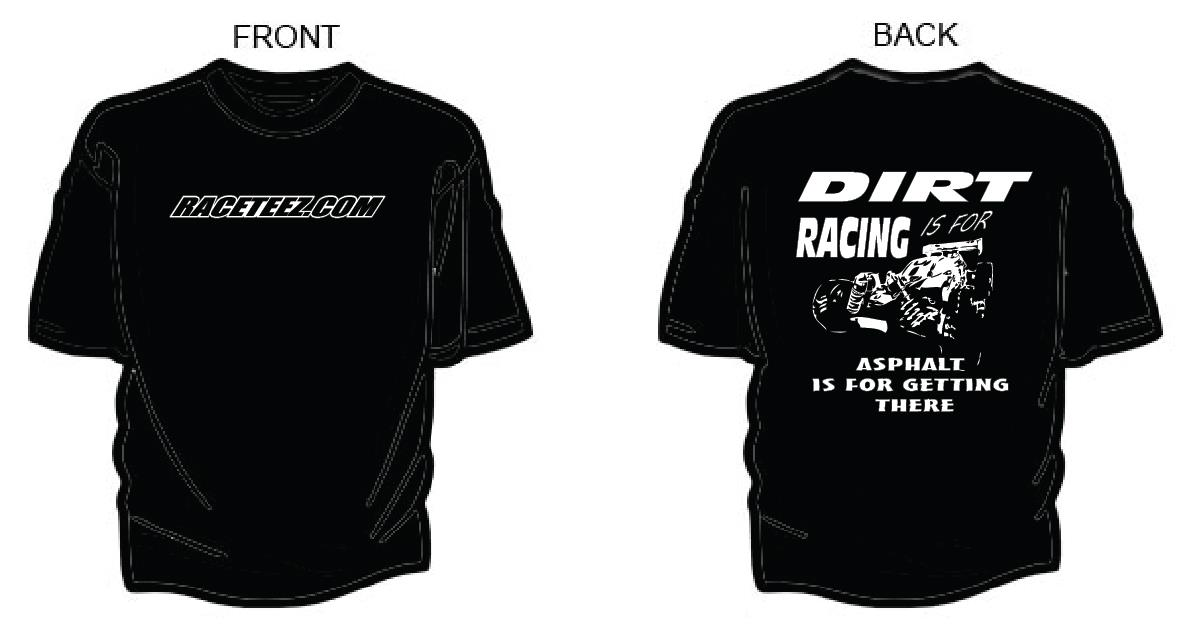 Raceteez new dirt is for racing shirt r for Newspaper t shirt designs