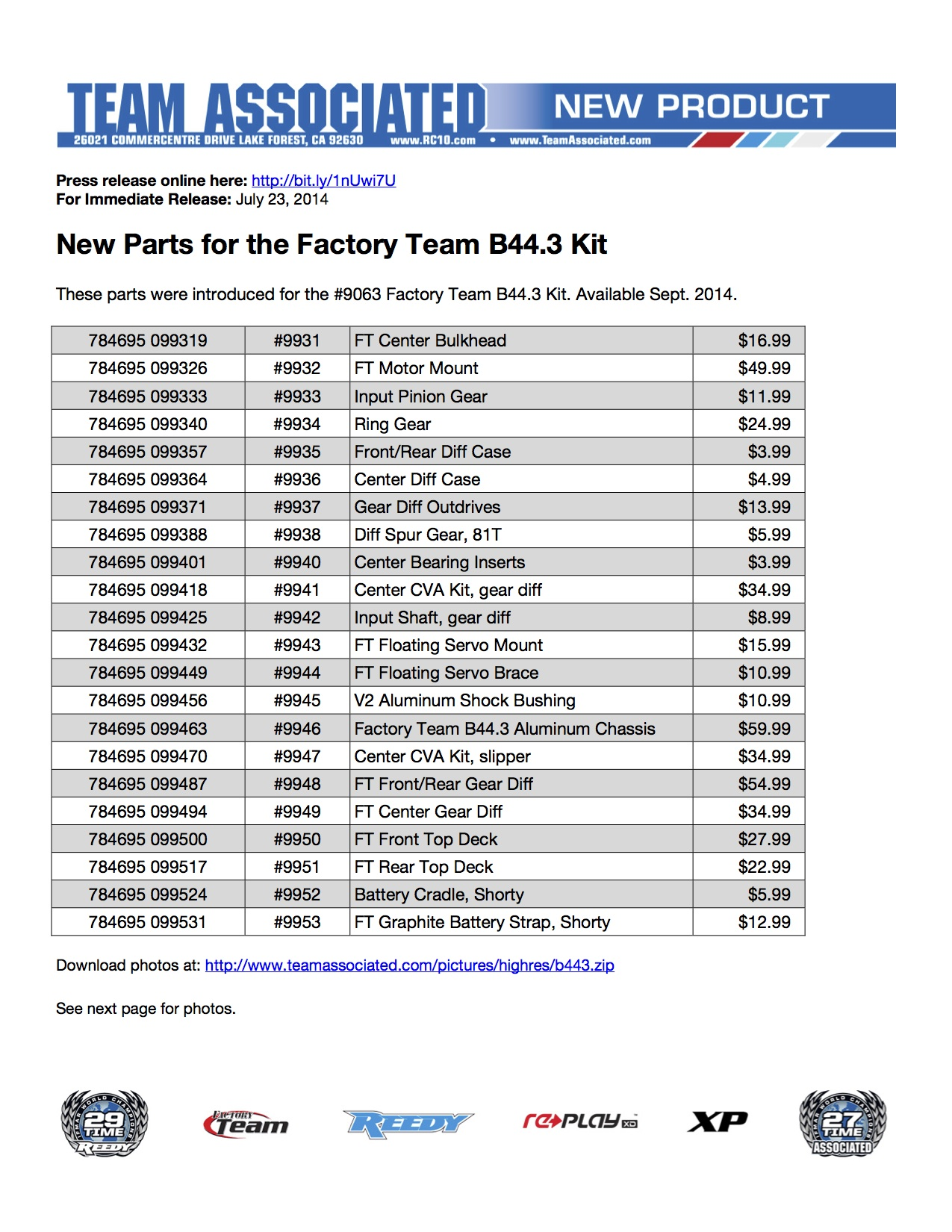 New Parts That Make Up Team Associated S Still Unreleased